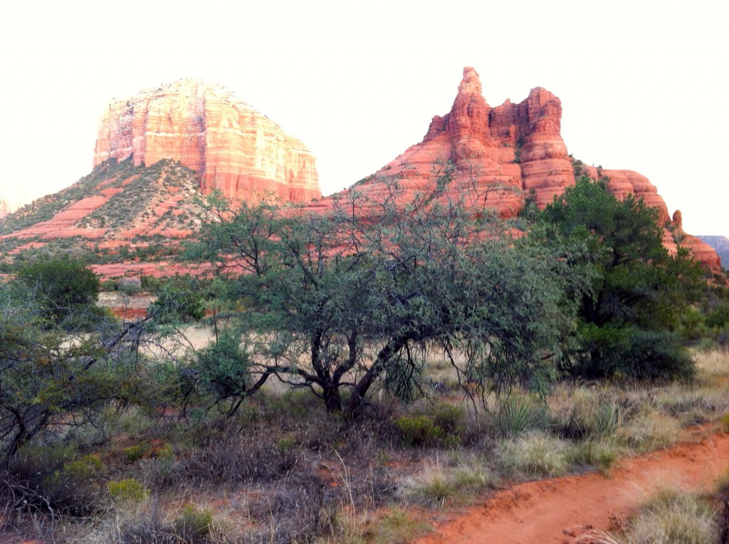 View of Courthouse Butte and Bell Rock from Slim Shady Trail
